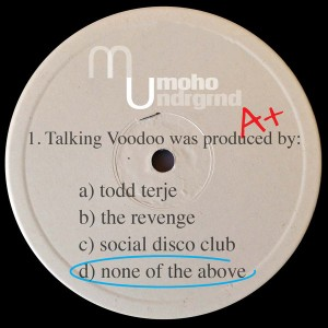 None Of The Above - Talking Voodoo [MoHo Underground]