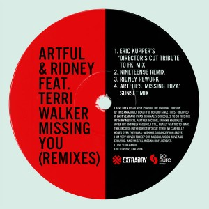 Artful & Ridney feat. Terri Walker - Missing You (2014 Mixes) [Extra Dry Records]