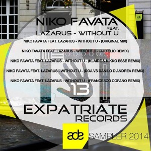 Niko Favata feat. Lazarus - Without U [Expatriate Records]