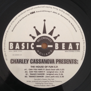 Charley Cassanova - The House Of Fun EP [Basic Beat Holland]